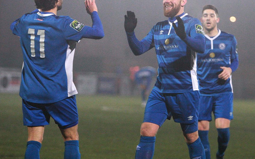 Blues win at Harlow