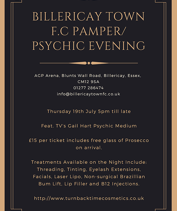Billericay Town FC Pamper and Psychic Evening