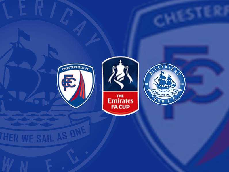 Chesterfield (Away) FA Cup 1st rd Saturday 10th November 2018 3pm