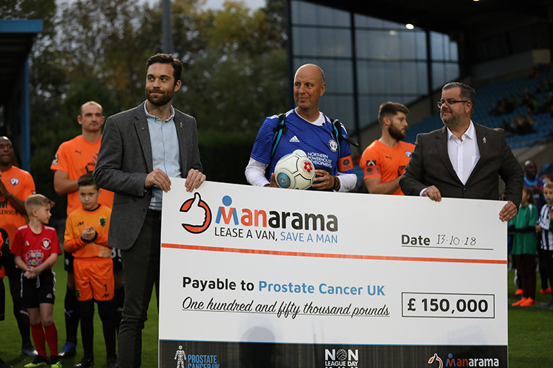 #MANarama National League campaign raises £150,000 for Prostate Cancer UK