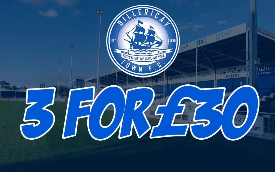 Last 3 Remaining Home Games for £30 (concessions – £20 Under 18's -£5)
