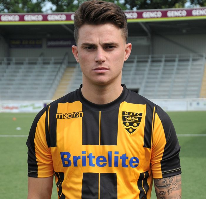 Jack signs for the Blue's from Maidstone Utd