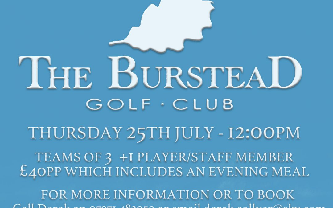 Billericay Town FC's Charity Golf Day – Thursday 25th July at Burstead Golf Club