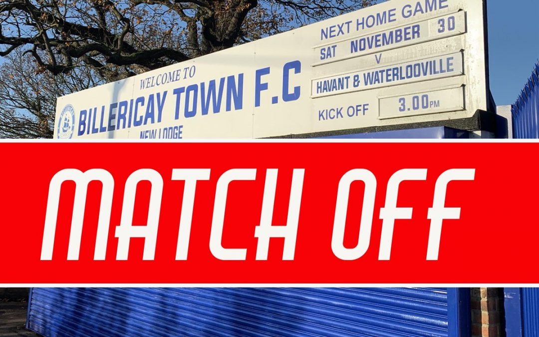 GAME OFF – HAVANT & WATERLOOVILLE