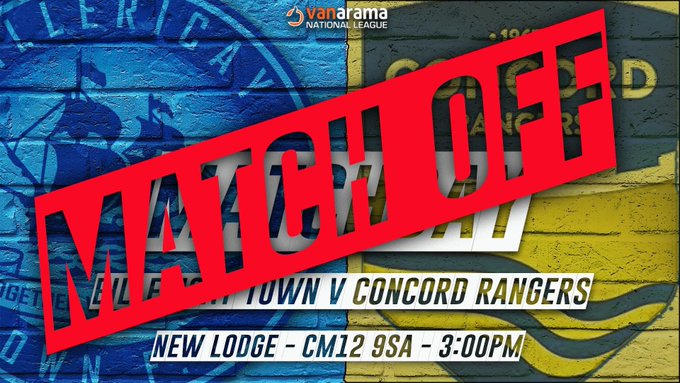 MATCH OFF – Concord Rangers