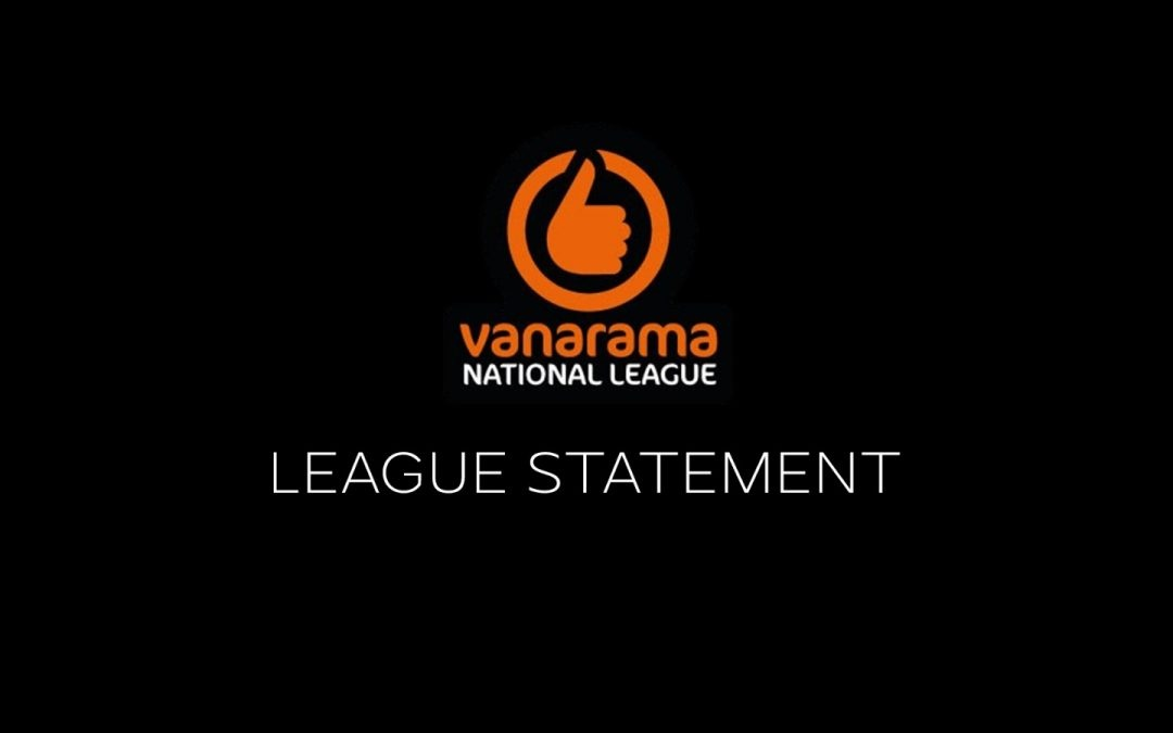 National League South Statement