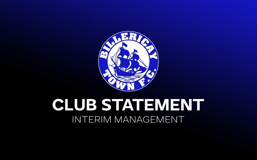 CLUB STATEMENT – INTERIM MANAGER