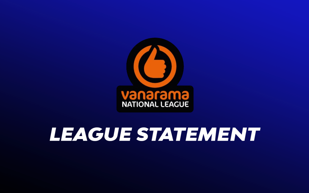 Statement – National League